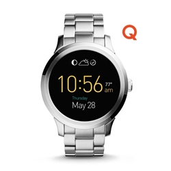 Q FOUNDER DIGITAL DISPLAY STAINLESS STEEL TOUCHSCREEN SMARTWATCH