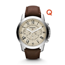 Q GRANT CHRONOGRAPH DARK BROWN LEATHER SMARTWATCH